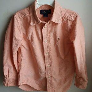 Ralph Lauren kids button-down long sleeve shirt